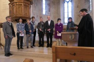 Amtseinsetzung von zwei neuen Kirchenpflegern